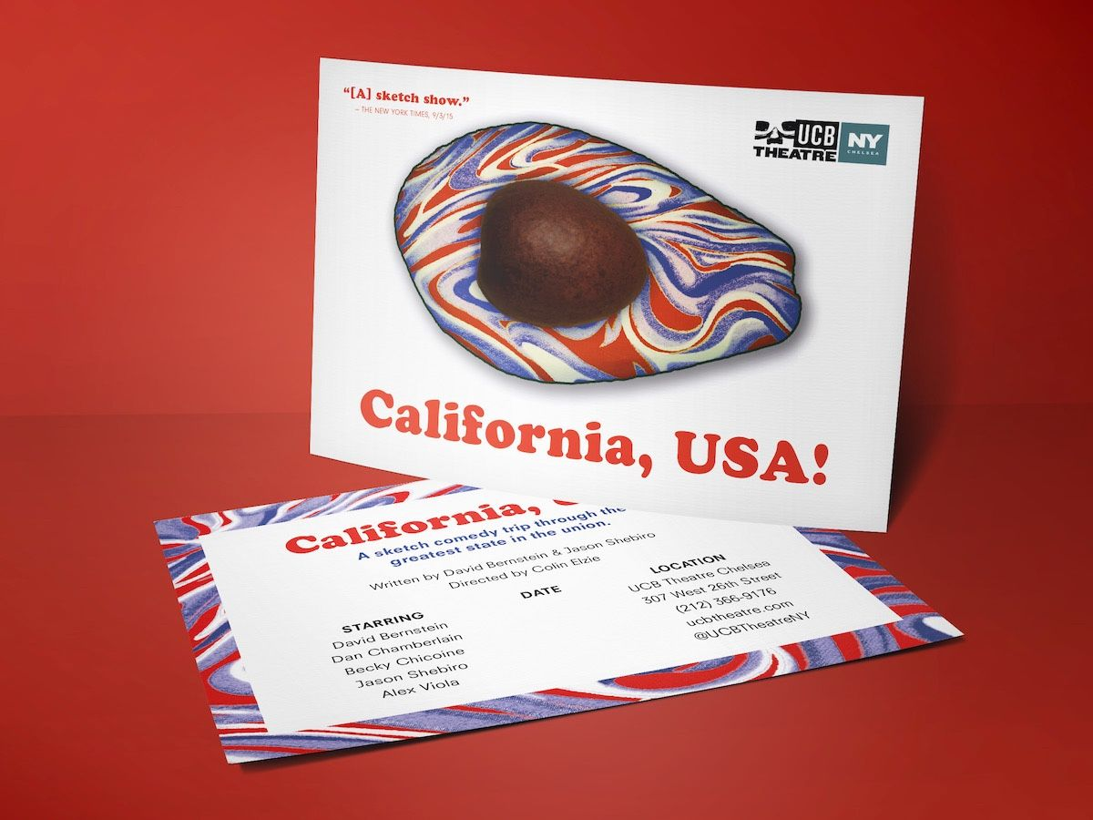 California, USA! Postcard